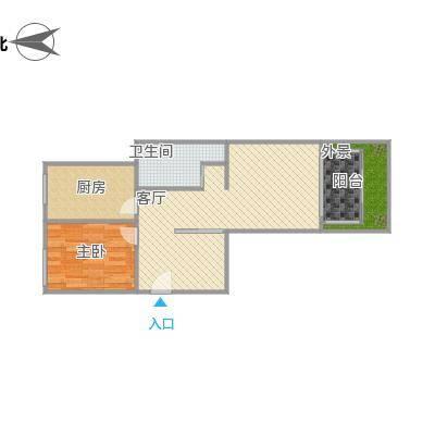方案一两室一厅101装修蓝图