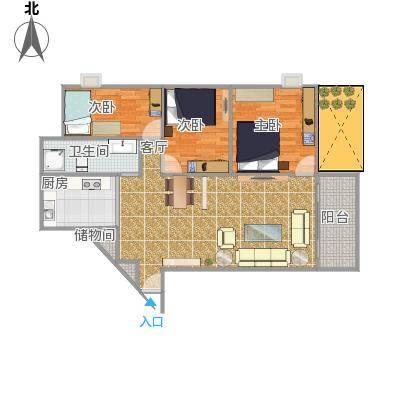 一栋一座两房一厅