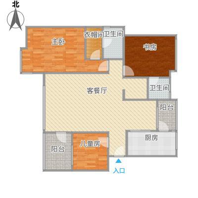 亲水洋房133.86㎡改后平面图