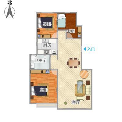 103平小三房方案1