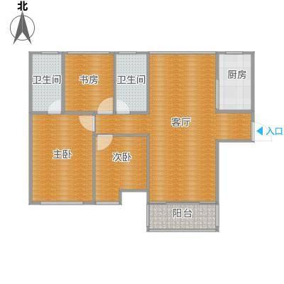 98平三室两厅两卫