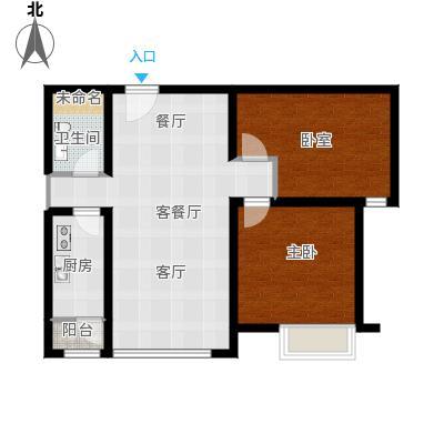 合生滨江帝景89.00㎡D户型2室2厅1卫