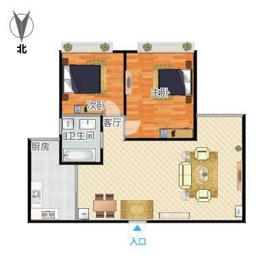 94方A1户型两室两厅