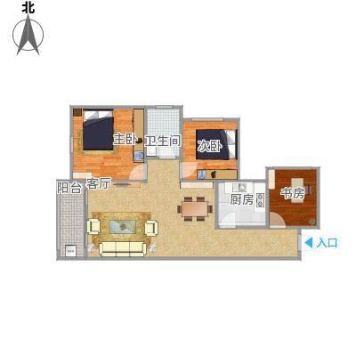 光明城市两室两厅77M