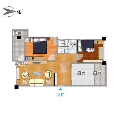 78方两室两厅