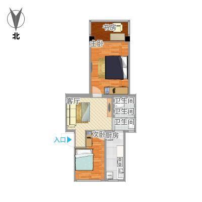 61方户型一室两厅