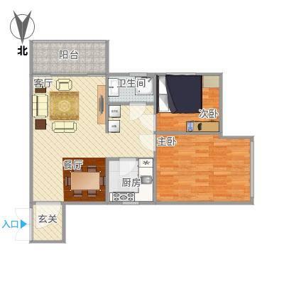 梅宾公安宿舍68方两房
