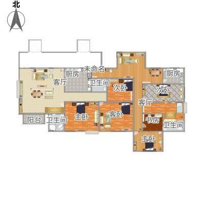 金碧湾花园125方35A户型四房两厅