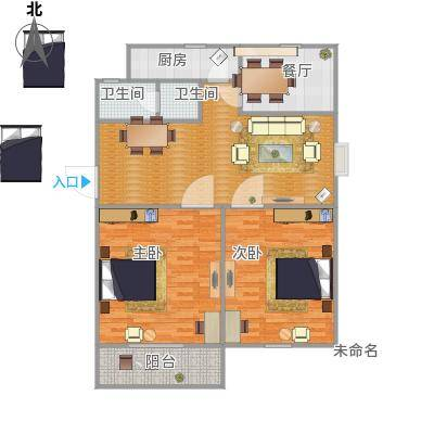 谷阳新村二区102平方两室两厅