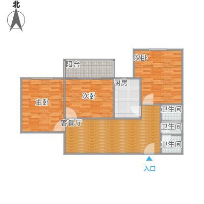 7号楼2单元两室改三室一厅一厨一卫修改方案