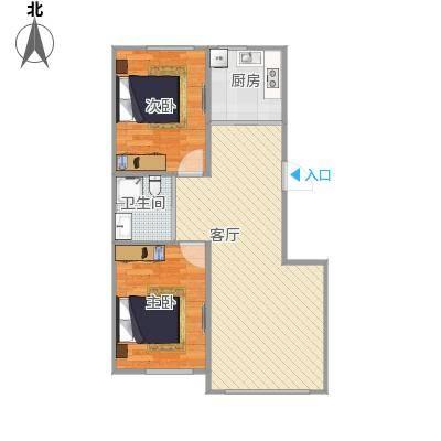 78平两室