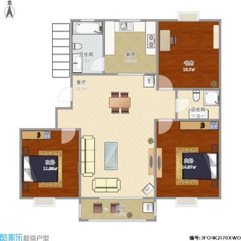 三室两厅116平
