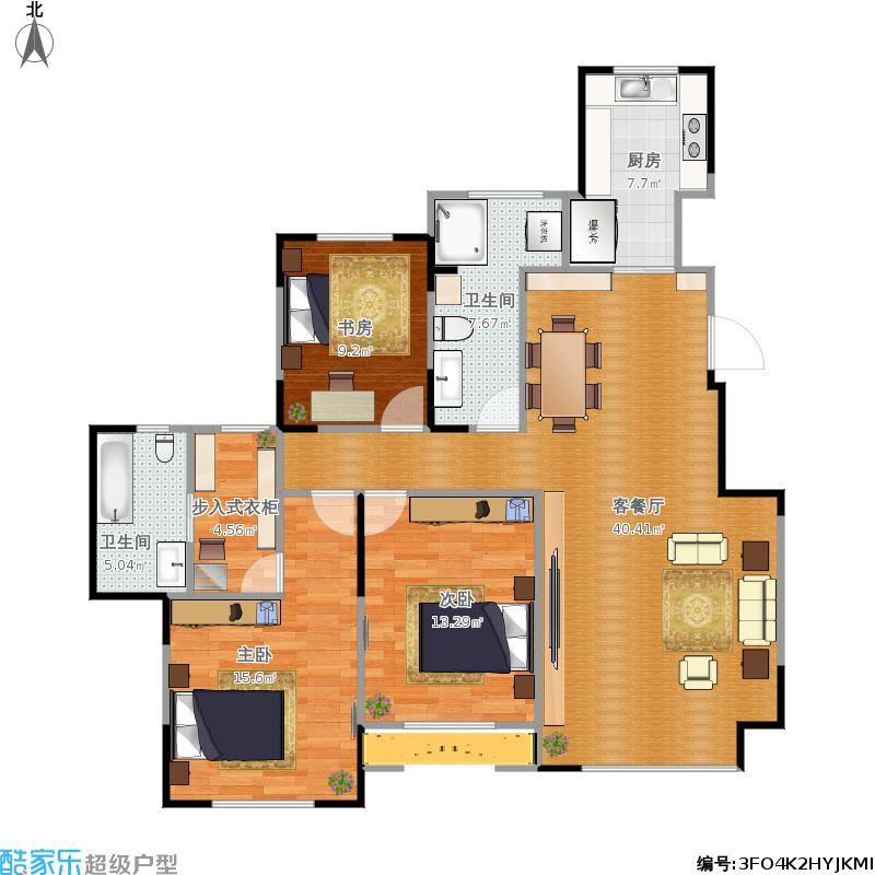 三室两厅两卫一厨 - 副本户型图大全