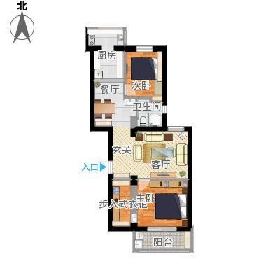 86平两室两厅3装修