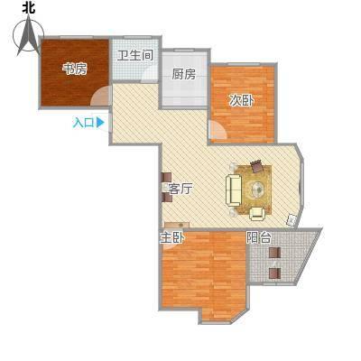 圣博未来城108平方三室一厅