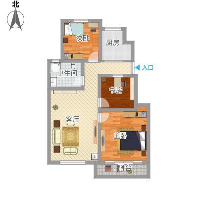 90平三房两厅