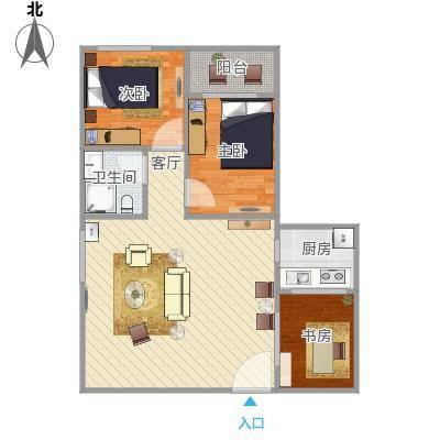 方案_87方2房2厅原