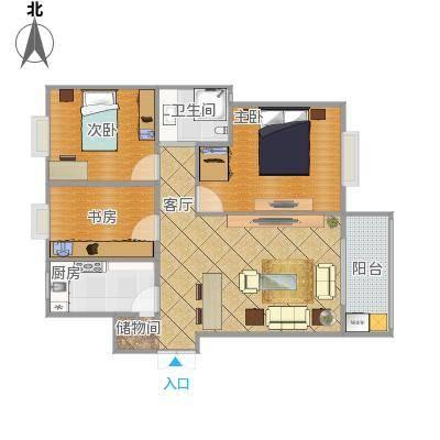 96平三房一厅一卫