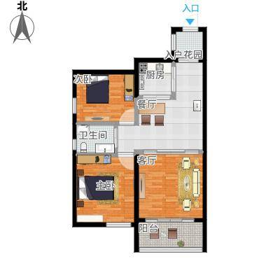 81平二房二厅