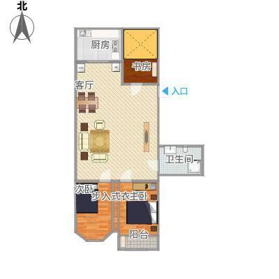 怡安苑82方3室1厅