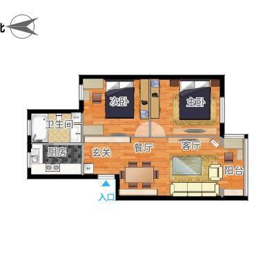 69平两室一厅