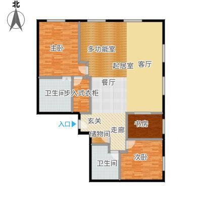 当代MOMA・历峰180.32㎡B户型3室2厅2卫
