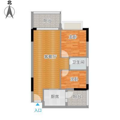 地王广场三期香颂里87.00㎡清香满屋户型2室1厅1卫
