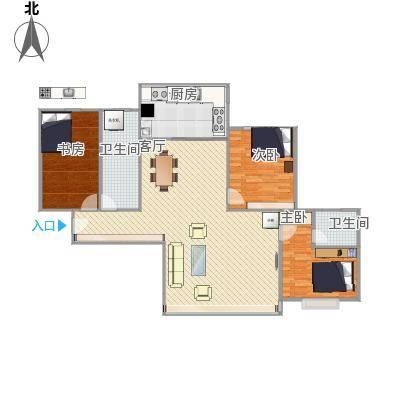 127方三室两厅两卫