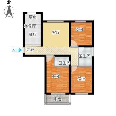 恒顺世纪中心139.70㎡I户型3室2厅2卫