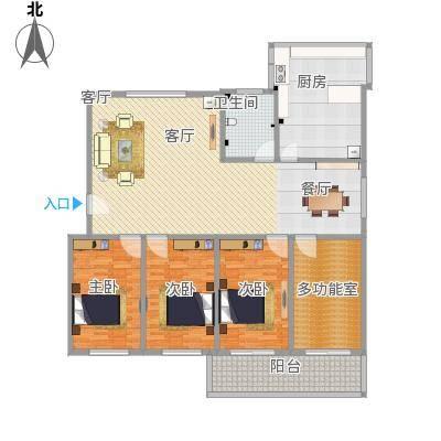 赵庄公寓170方A3四室一卫两厅