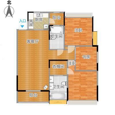 朗诗未来树118平三室两厅