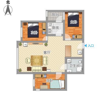 航天社区96平3居室_Dec'd