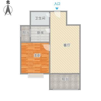 天鑫家园二期1居户型1室1厅1卫1厨