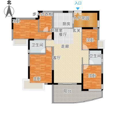 东岸御花园184.51㎡御天阁01型:4房2厅2卫户型