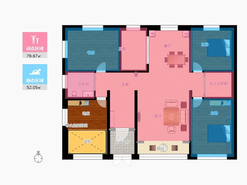 农村自建平房地上一层设计图20150111