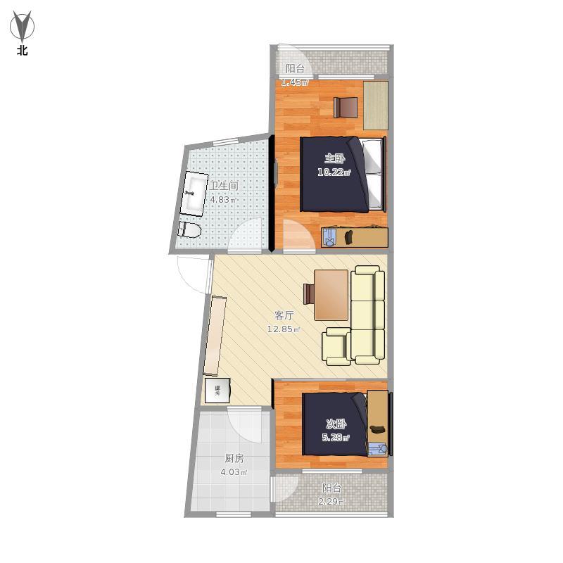 户型设计 一居室 - 副本 - 副本 - 副本  北京 海特花园 套内面积:40.