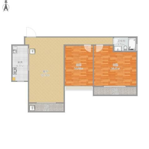 南向两房-开发商尺寸