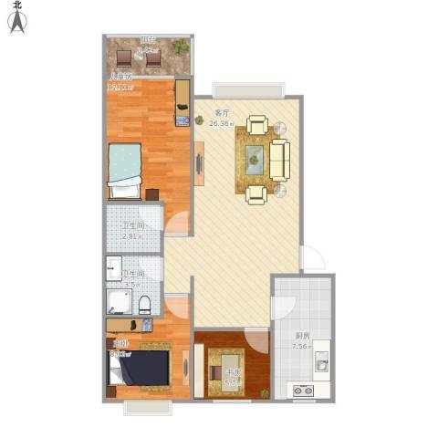 112 三室两厅两卫