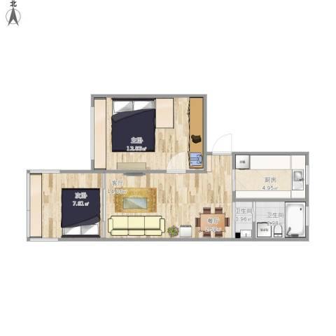 一室一厅55.58_设计一