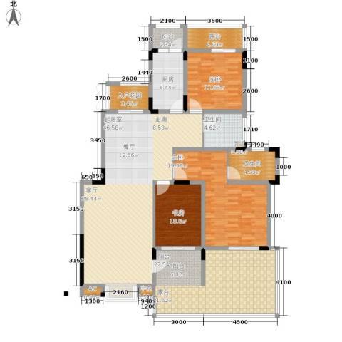 美每家南滨上院124.85㎡二期7、9号楼标准层A3-1户型-副本