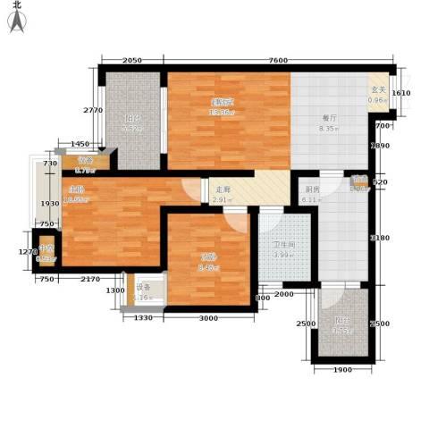 约克郡上景69.00㎡一期1、2号楼标准层B2户型-副本