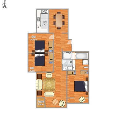 南北3居室