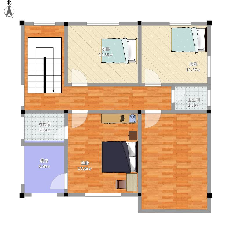 别墅复式3层平面图