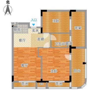 金融街巽寮湾95.00㎡C1型2房2厅1卫户型2室2厅1卫
