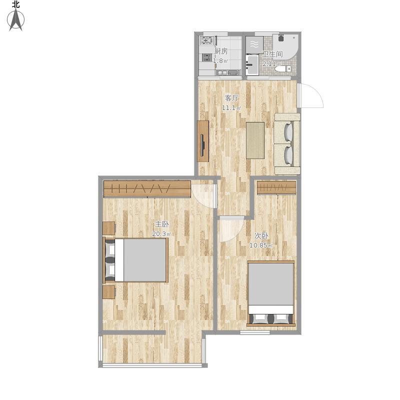 友谊社区塔楼61平两室一厅 - 副本户型图大全,装修图