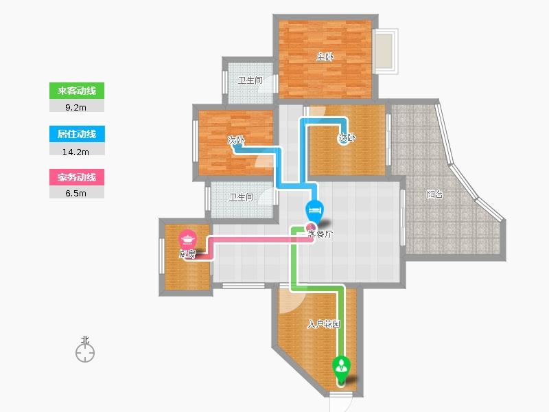 半岛明珠三居室128m642;户型图大全,装修户型图,图