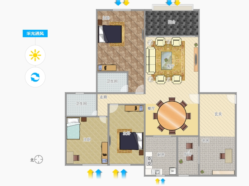 设计图分享 楼房三室一厅设计图纸 > 两室一厅设计图纸  两室一厅设计图片