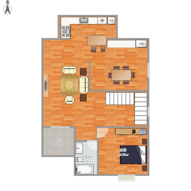 s区200平复式楼户型图大全