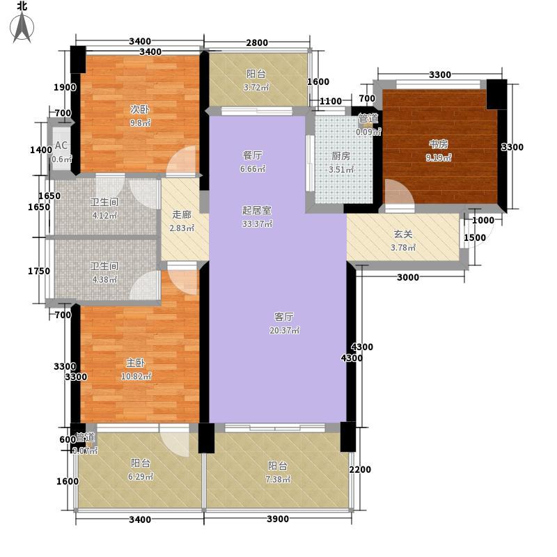 创城·宜城风景105.00㎡i约105户型3室2厅