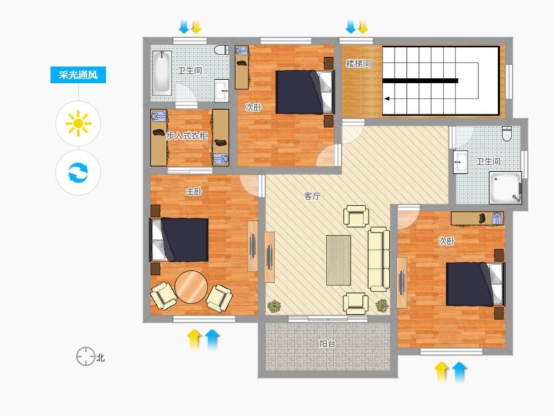 农村自建房2楼平面图